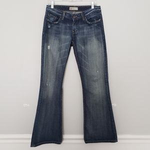 BKE Star 20 Distressed Bootcut Jeans size 29x31.5